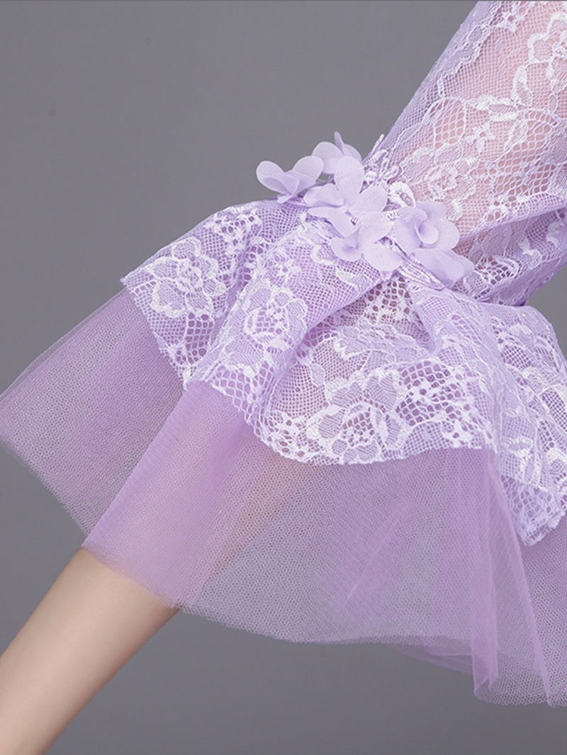 Ericdress Appliques Embroidery Flowers Off-the-Shoulder Lace Quinceanera Dress