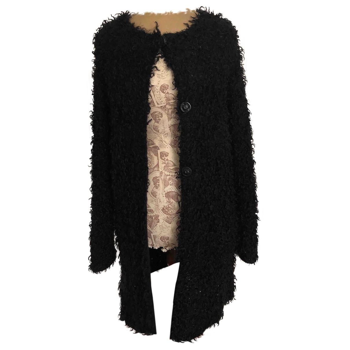 Henry Cotton \N Black Wool coat for Women 42 IT