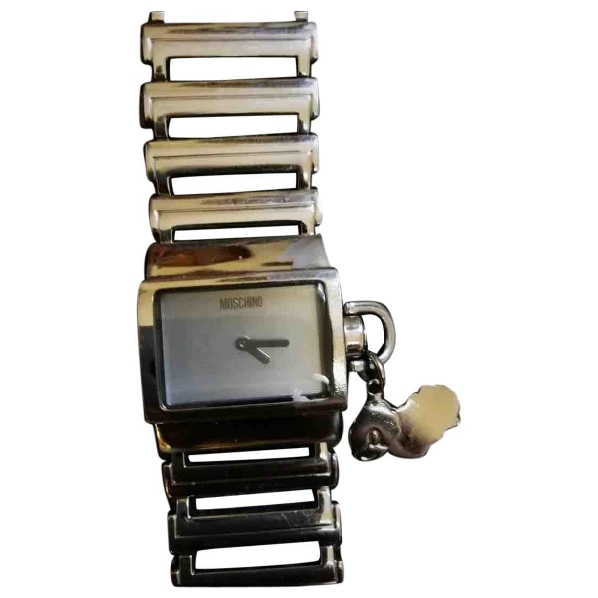 Moschino \N Uhr in  Silber Stahl
