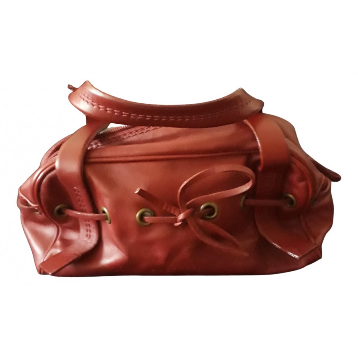 Coccinelle \N Handtasche in  Bordeauxrot Leder