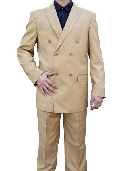 Alberto Nardoni Double breasted Suit Camel