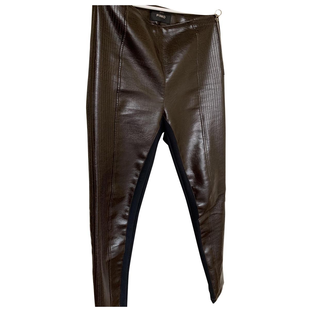 Pinko \N Brown Trousers for Women 42 IT