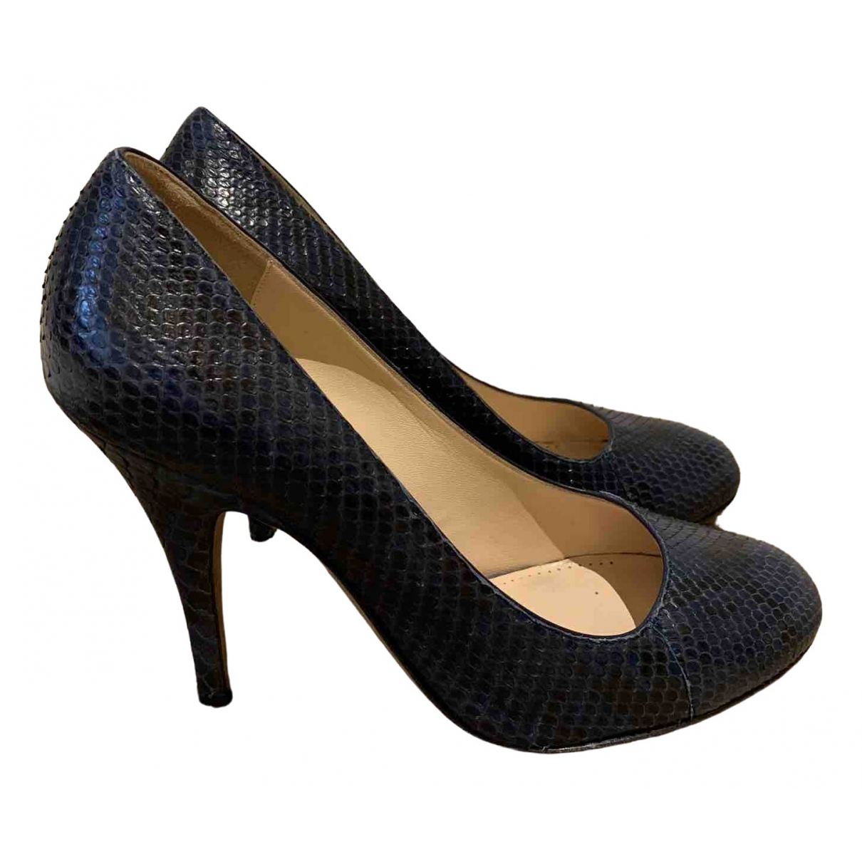 Bally \N Blue Leather Heels for Women 37.5 EU