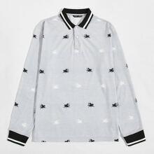 Camiseta polo con estampado