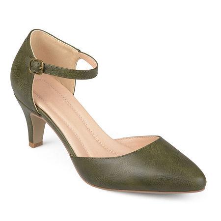 Journee Collection Womens Bettie Pumps Stiletto Heel, 9 Medium, Green