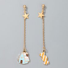 Christmas Candy Charm Drop Earrings