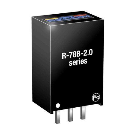 Recom Through Hole Switching Regulator, 5V dc Output Voltage, 6.5 → 32V dc Input Voltage, 2A Output Current