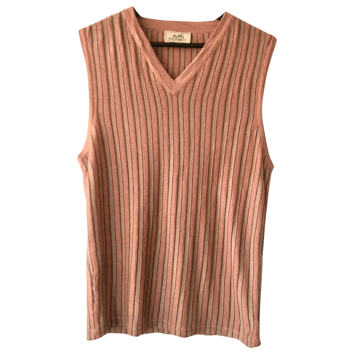 Hermès \N Pink Linen Knitwear for Women S International