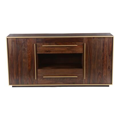 Focus Collection BZ-1081-20 Sideboard with Brass Accents in Brown