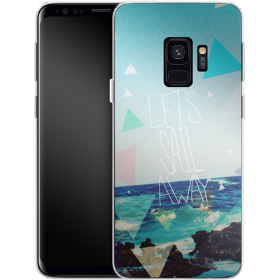 Samsung Galaxy S9 Silikon Handyhuelle - Lets Sail Away von Leah Flores