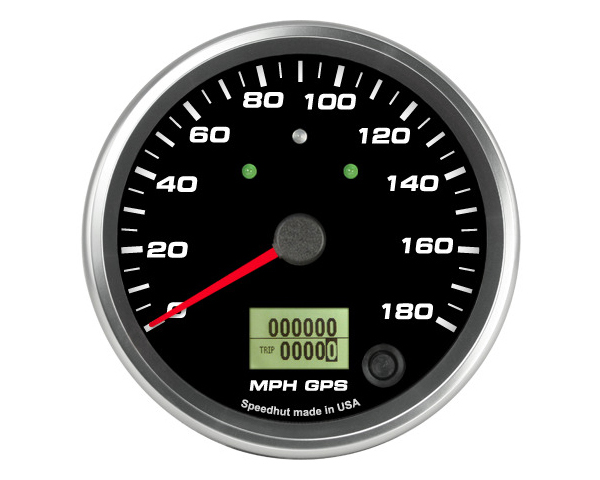 SpeedHut GR4-GPS-05T GPS Speedometer Gauge 180mph | with Turn Signal and High Beam