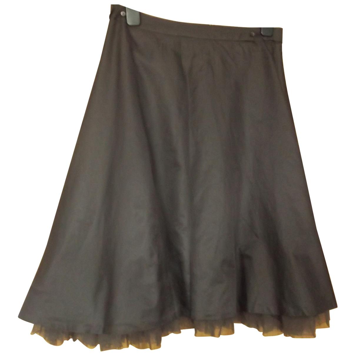 Boss - Jupe   pour femme en soie - marron
