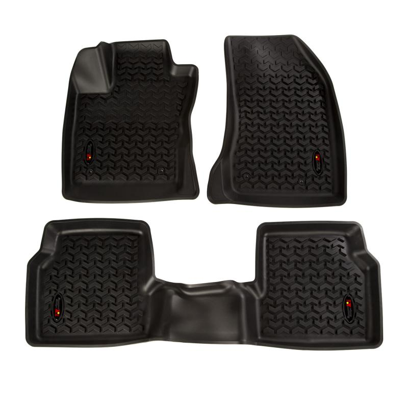 Rugged Ridge 12987.42 All Terrain Floor Liner Kit, Front/Rear, Black; 18-19 Jeep Compass MP Jeep Compass 2018