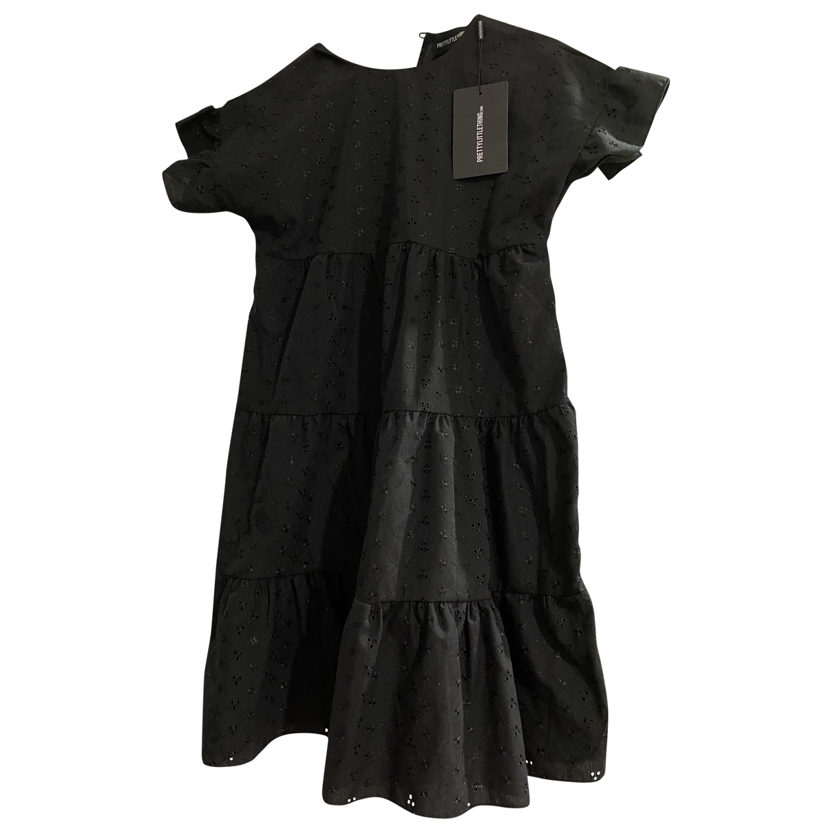 Non Signe / Unsigned Oversize Kleid in  Schwarz Baumwolle