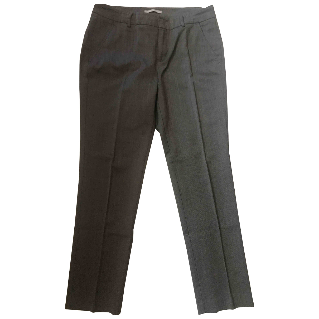 Non Signé / Unsigned \N Grey Trousers for Women 42 IT
