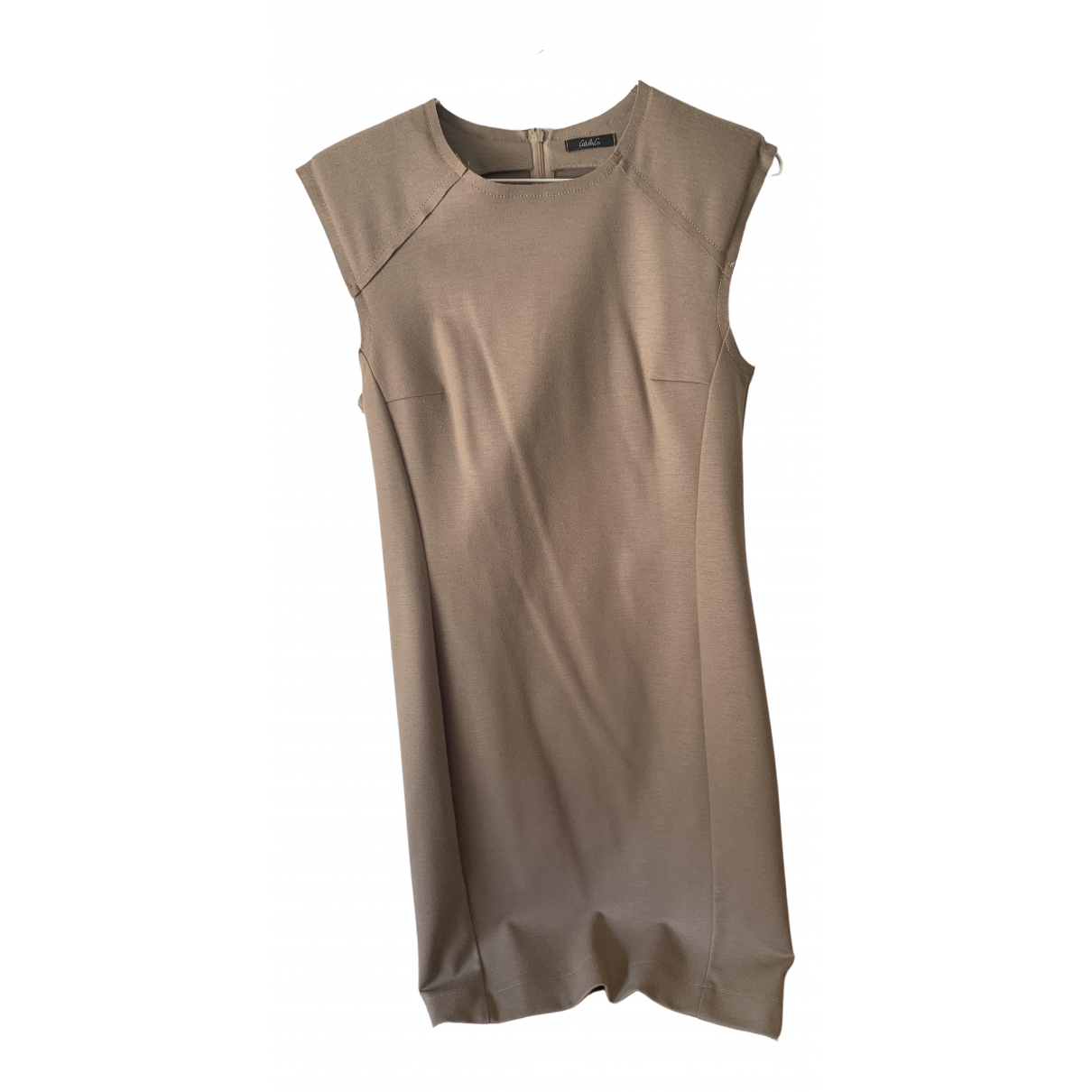 Non Signé / Unsigned \N Beige Wool dress for Women 46 IT
