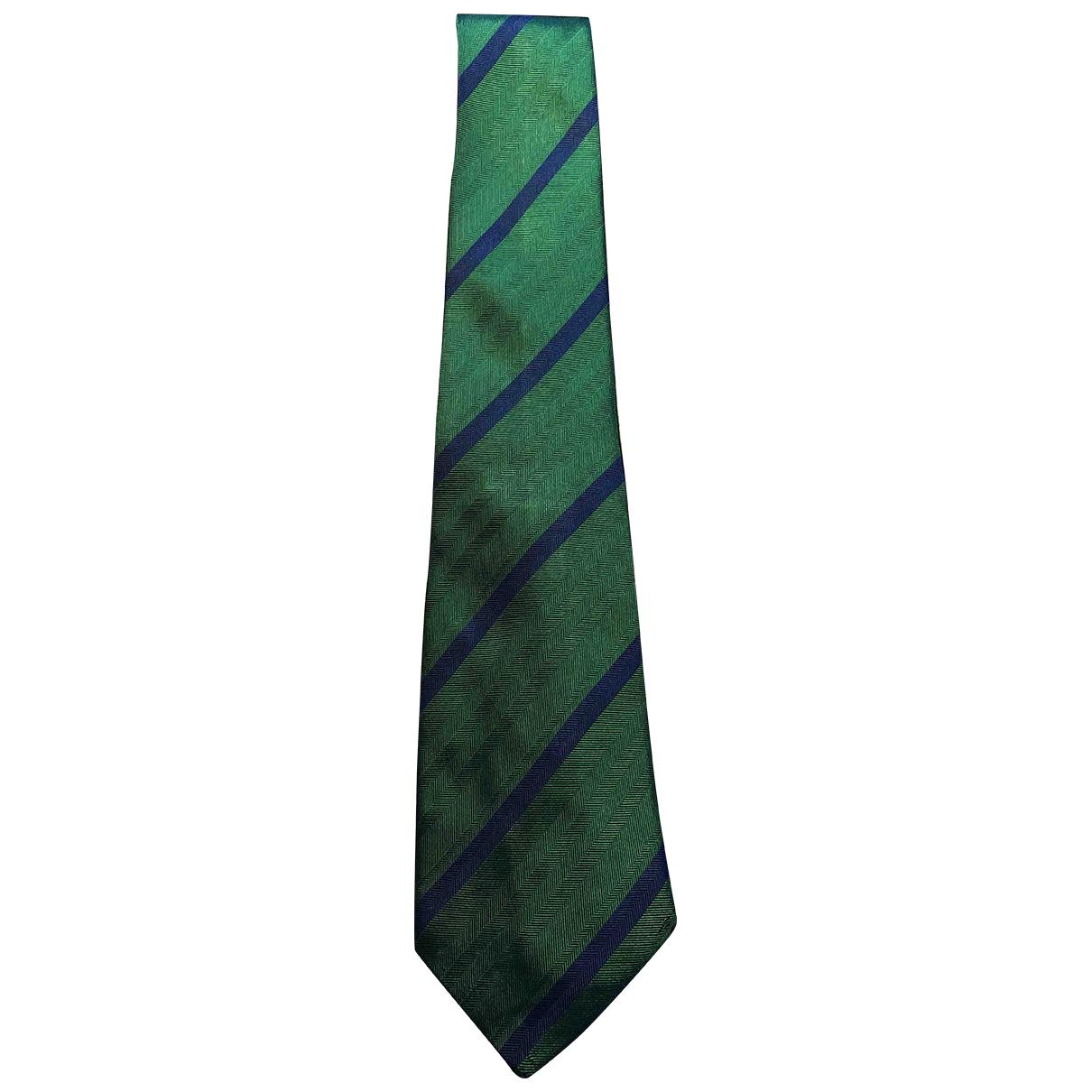Jacques Fath \N Krawatten in  Gruen Seide