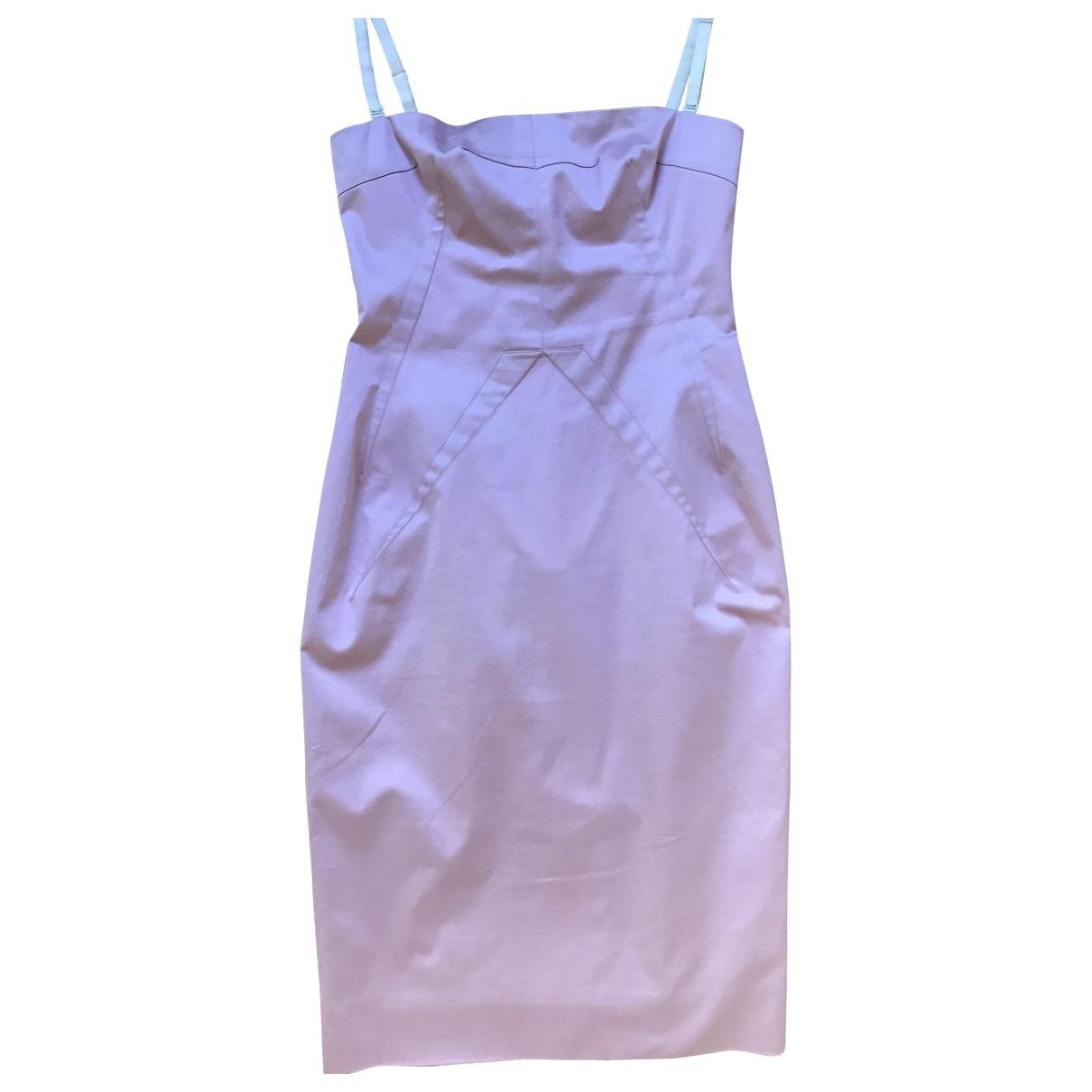 D&g \N Kleid in  Rosa Baumwolle