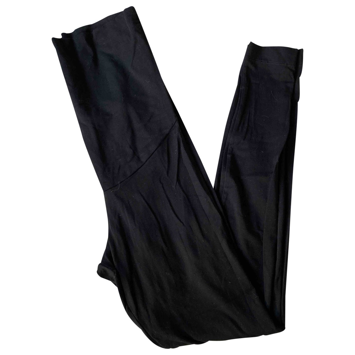 Non Signé / Unsigned \N Black Cotton Trousers for Women S International