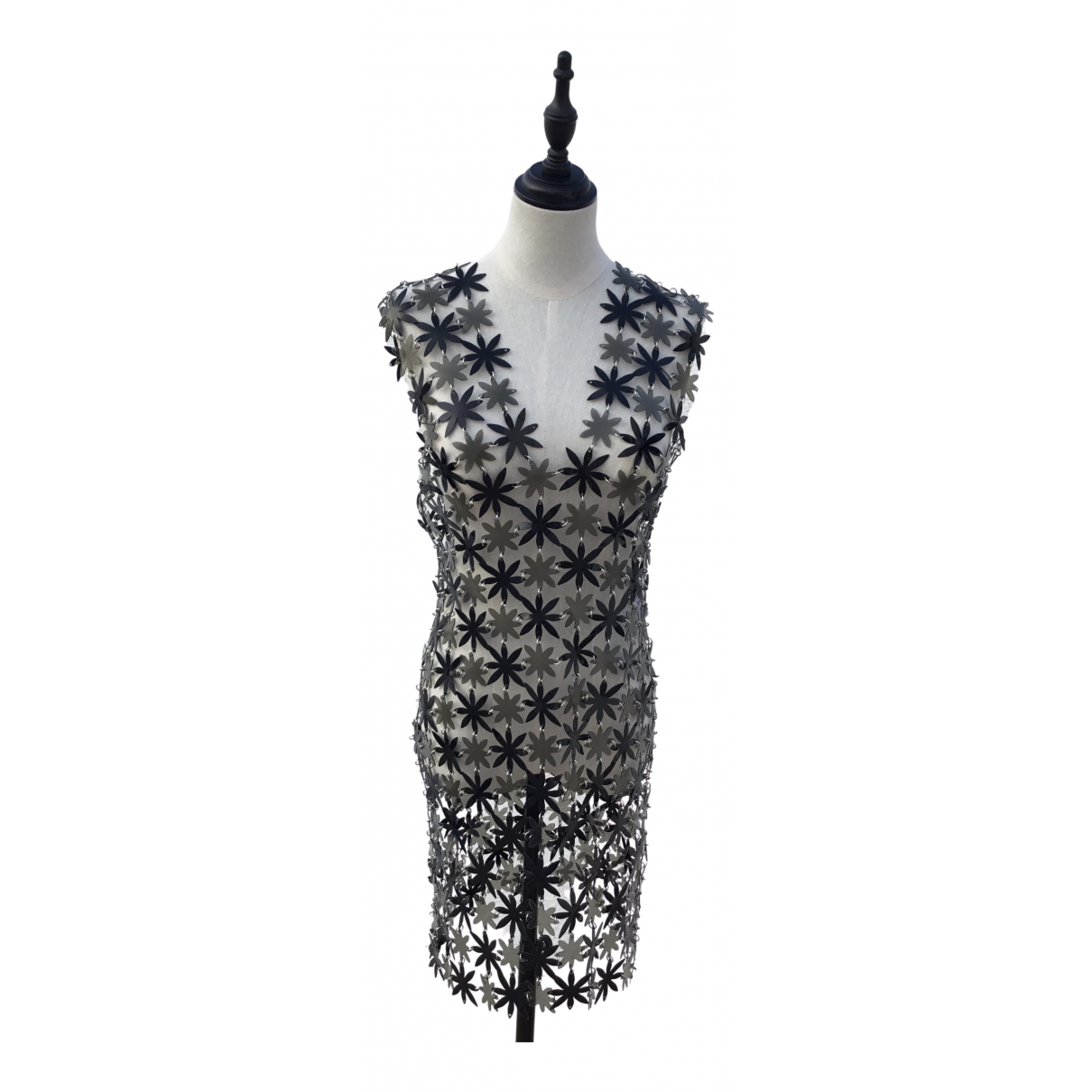 Paco Rabanne \N Kleid in  Metallic Synthetik