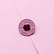 Rose Pattern Round Brooch