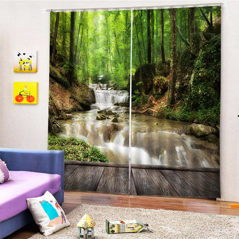 Beddinginn 3D Beautiful Trees Decoration Curtain Modern Curtains/Window Screens
