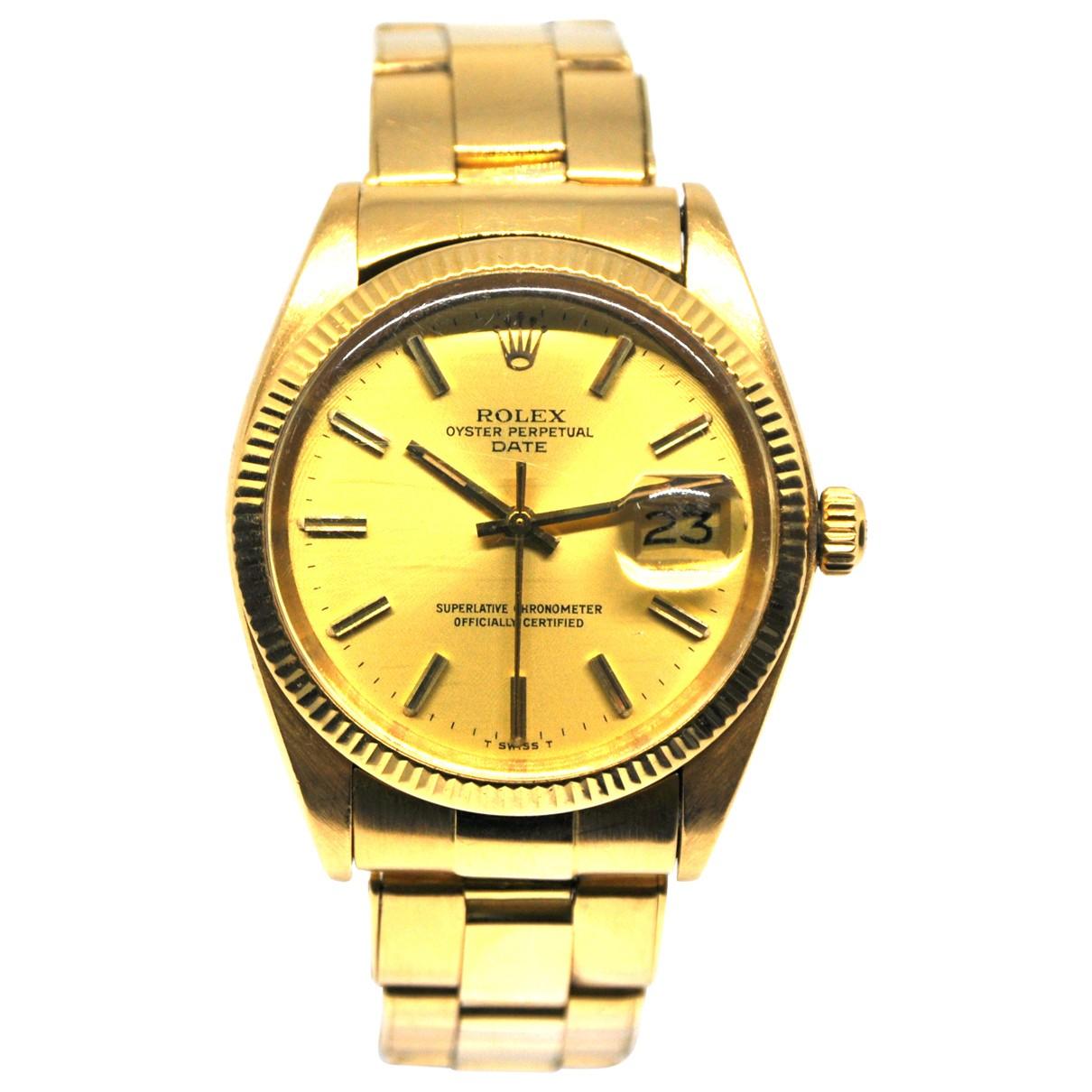 Rolex Oyster Perpetual 34mm Uhr in  Gelb Gelbgold