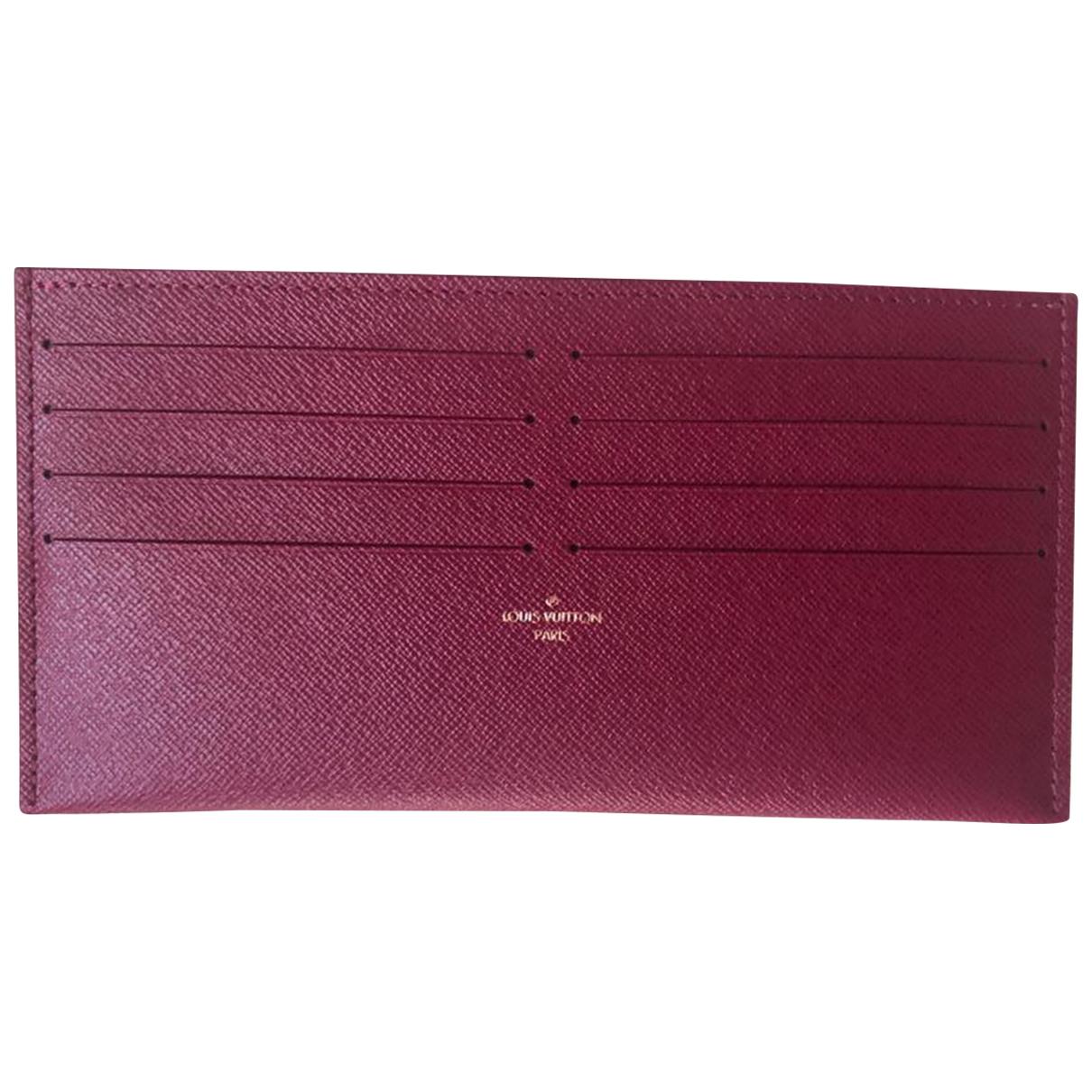 Louis Vuitton \N Kleinlederwaren in  Bordeauxrot Leder