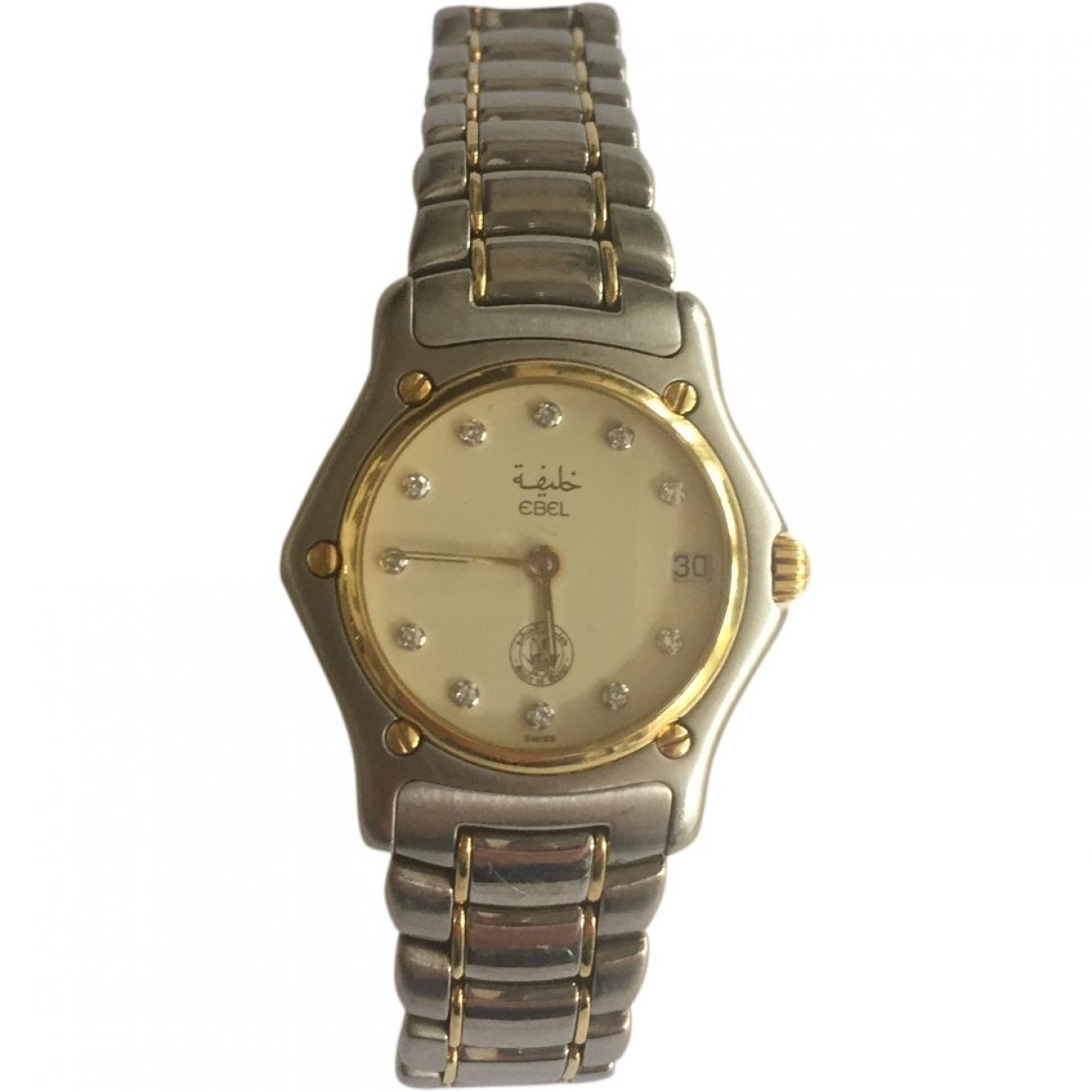 Ebel Wave Uhr in  Silber Gold und Stahl