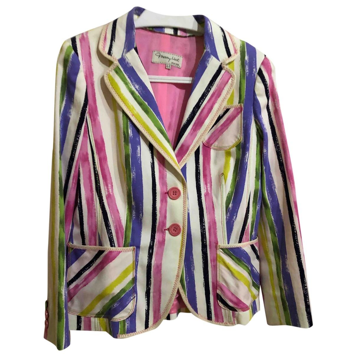 - Veste   pour femme en coton - multicolore