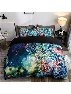 Bohemian Style Galaxy Digital Printing Polyester 3D 3-Piece Bedding Sets/Duvet Covers