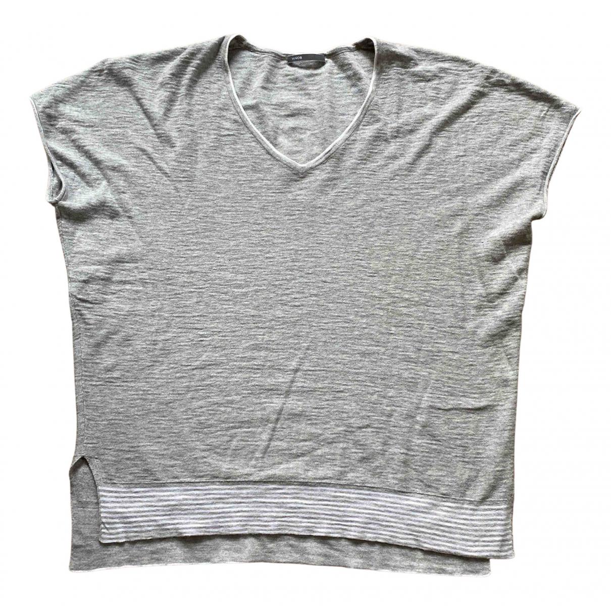 Vince - Top   pour femme en coton - gris