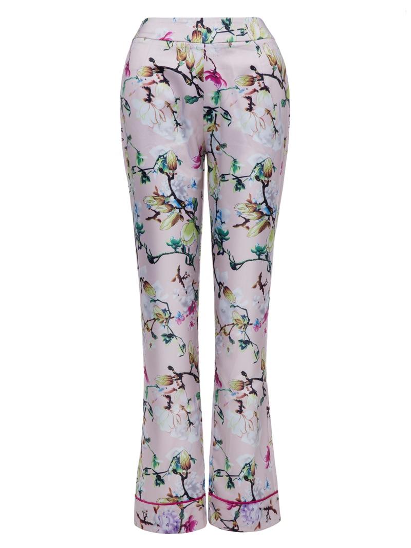 Ericdress Slim Flower Print Full Length Women's Trousers