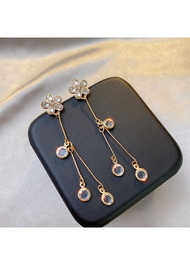 Mother's Day Gifts Gold Metal Flower Design Earring Set for Women - One Size