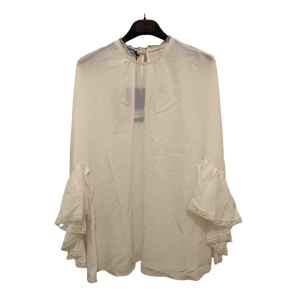 Prada N White Silk  top for Women 42 IT