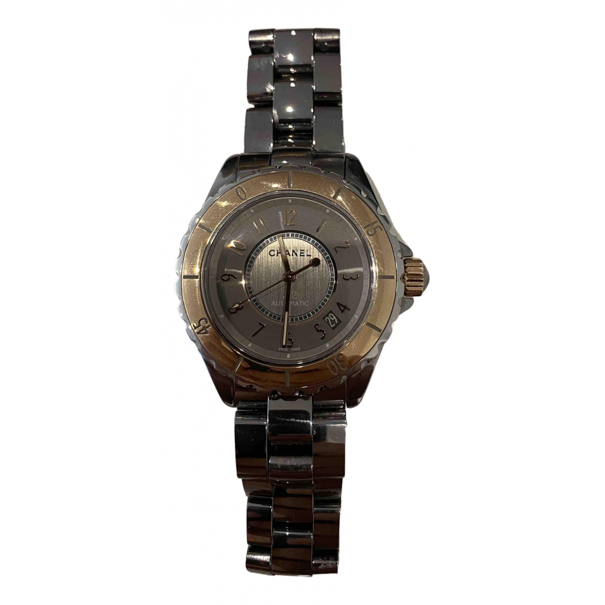 Chanel J12 Automatique Grey Yellow gold watch for Men \N