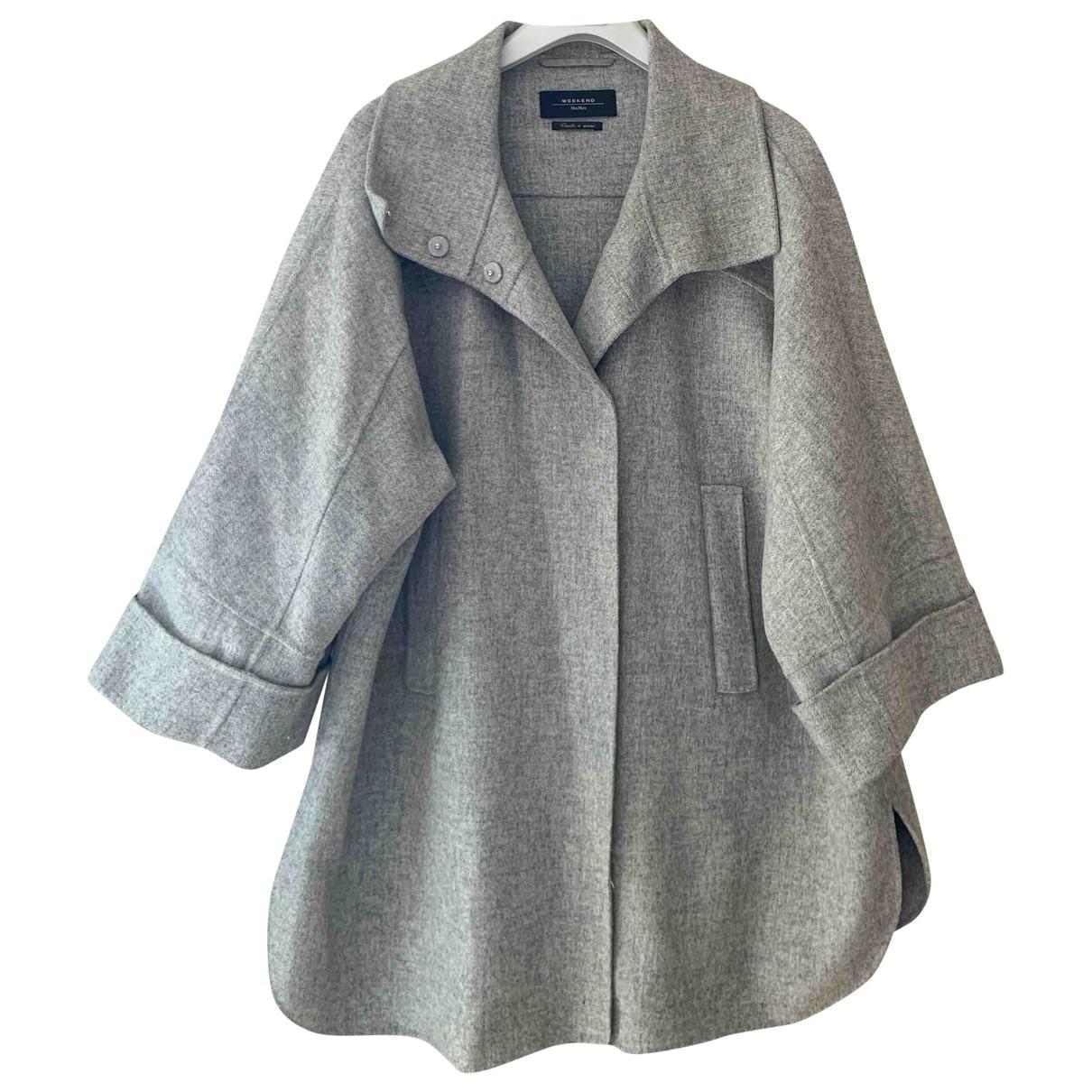Max Mara Weekend - Manteau   pour femme en laine - gris