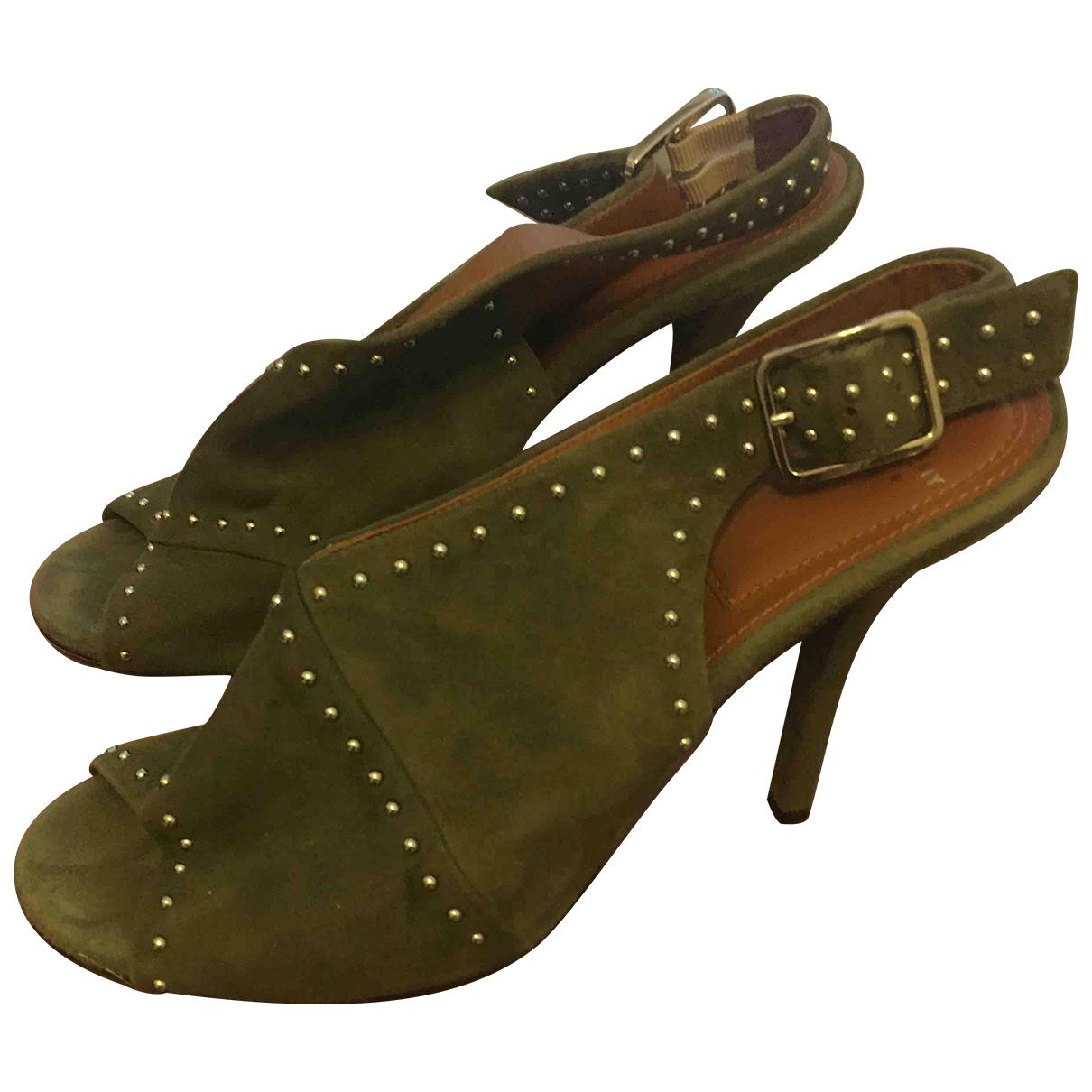 Givenchy - Sandales   pour femme en suede - vert