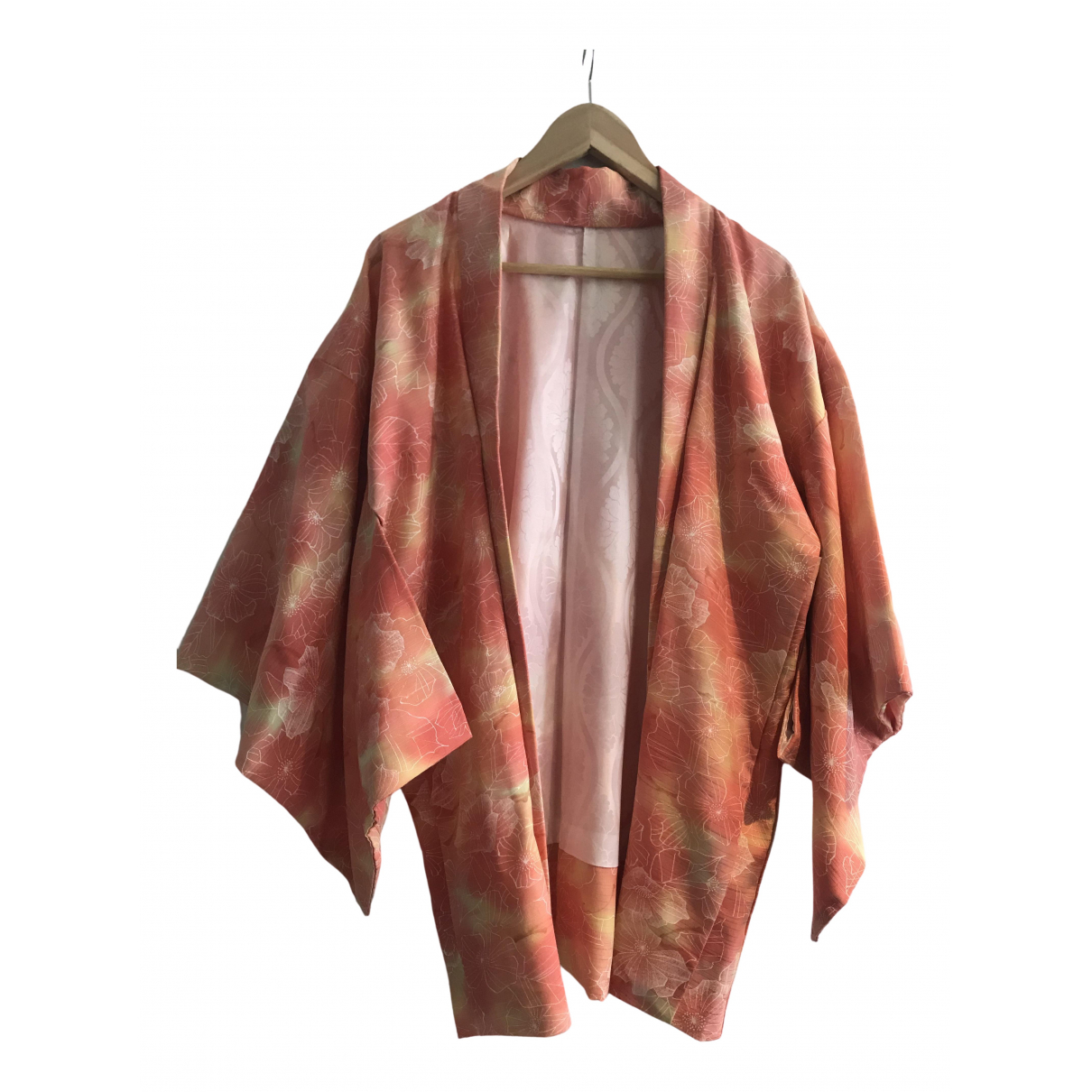 Non Signe / Unsigned Oversize Jacke in  Orange Baumwolle