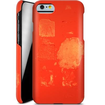 Apple iPhone 6 Smartphone Huelle - Red Block Background von Brent Williams