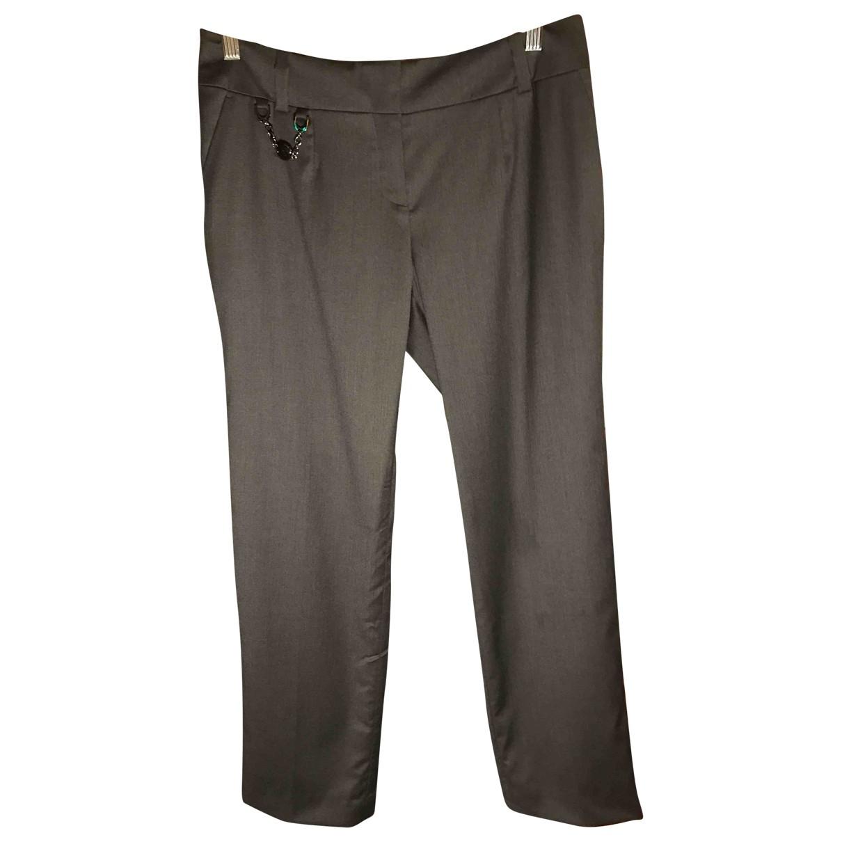 Celine \N Grey Wool Trousers for Women 40 FR
