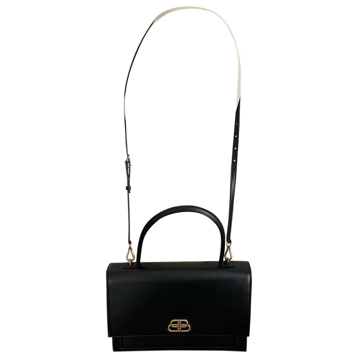 Balenciaga Sharp Handtasche in  Schwarz Leder