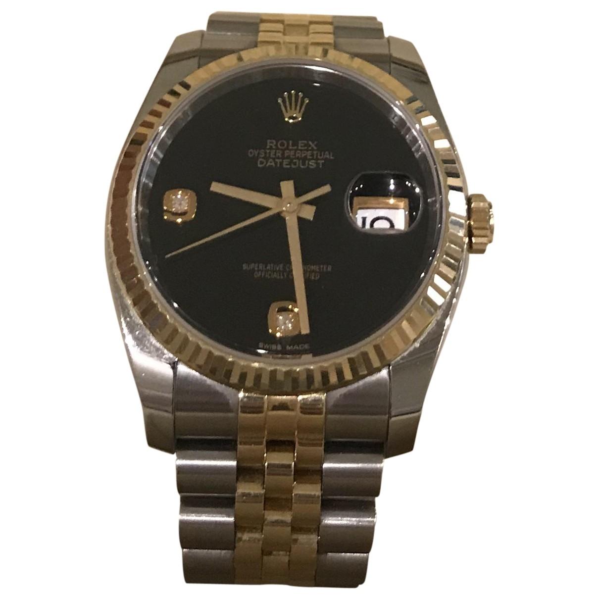 Rolex - Montre Datejust 36mm pour femme en or et acier