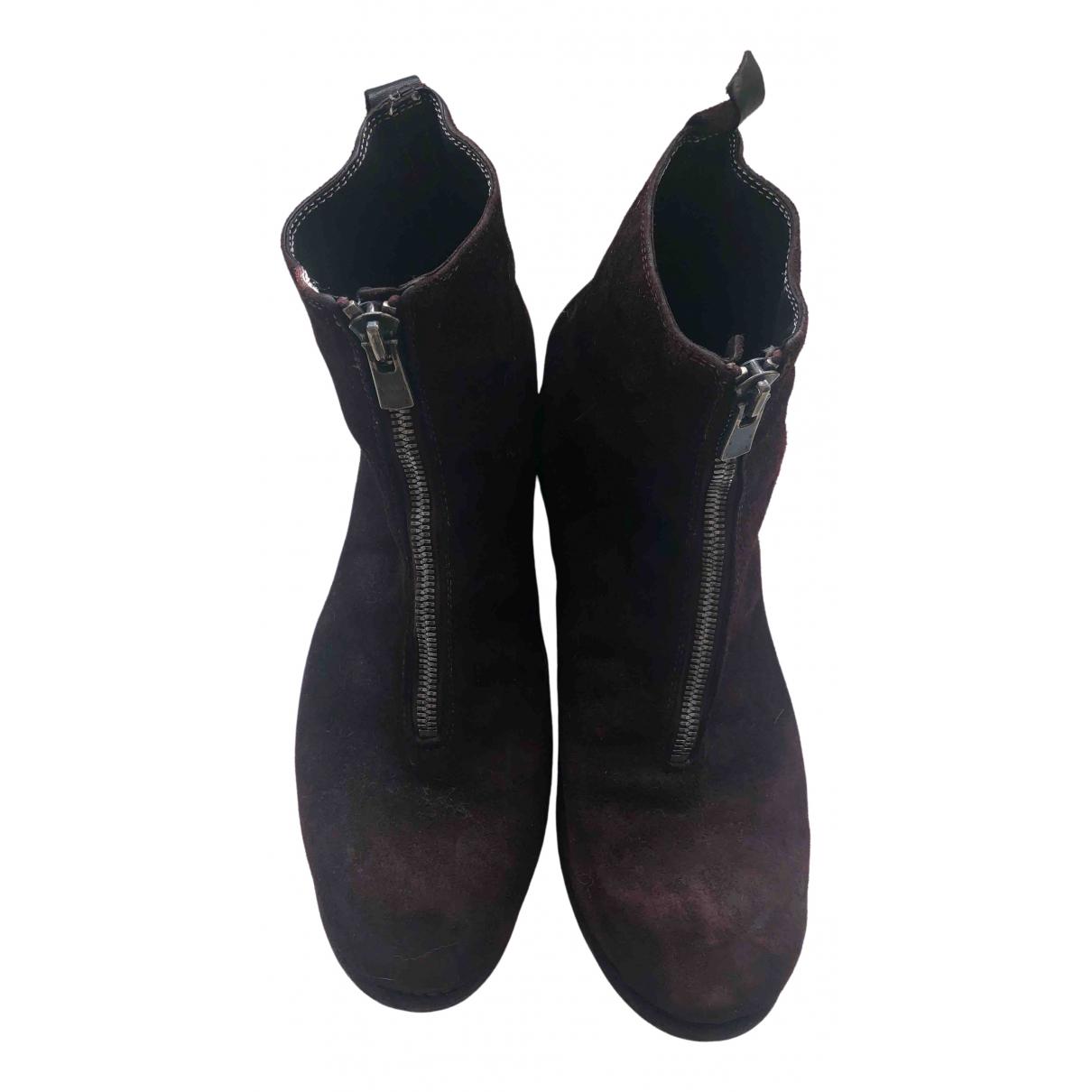 Guidi \N Stiefel in  Bordeauxrot Leder