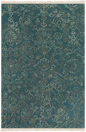 Wilmington WLG-9004 9' x 13' Rectangle Traditional Rugs in Navy  Teal  Khaki
