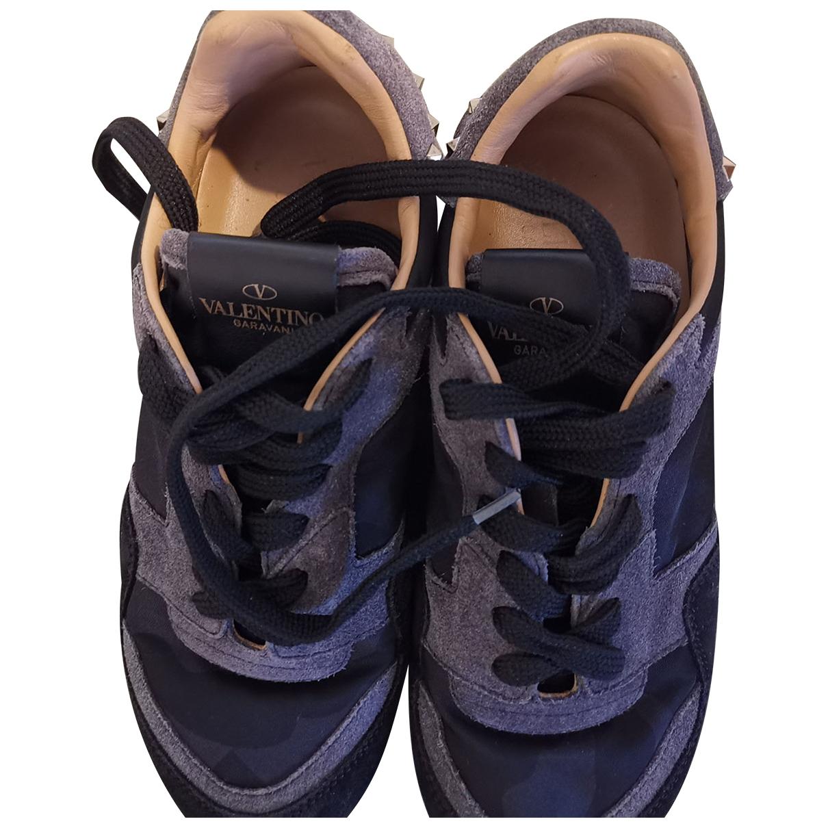 Valentino Garavani Rockrunner Sneakers in  Blau Leder