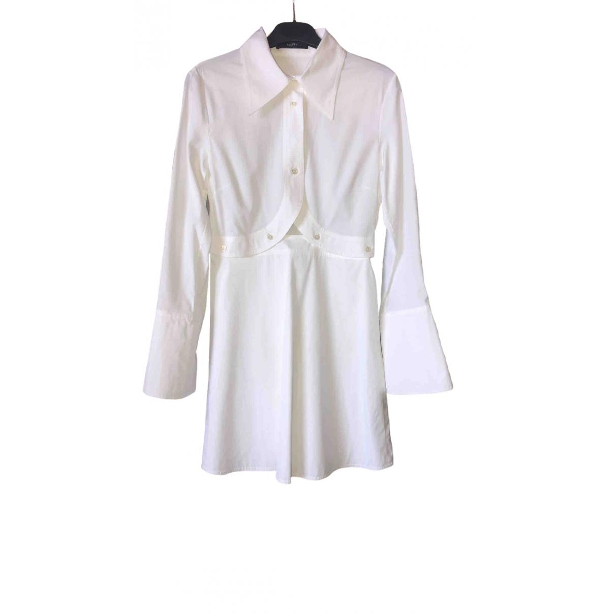 Ellery \N Kleid in  Weiss Baumwolle
