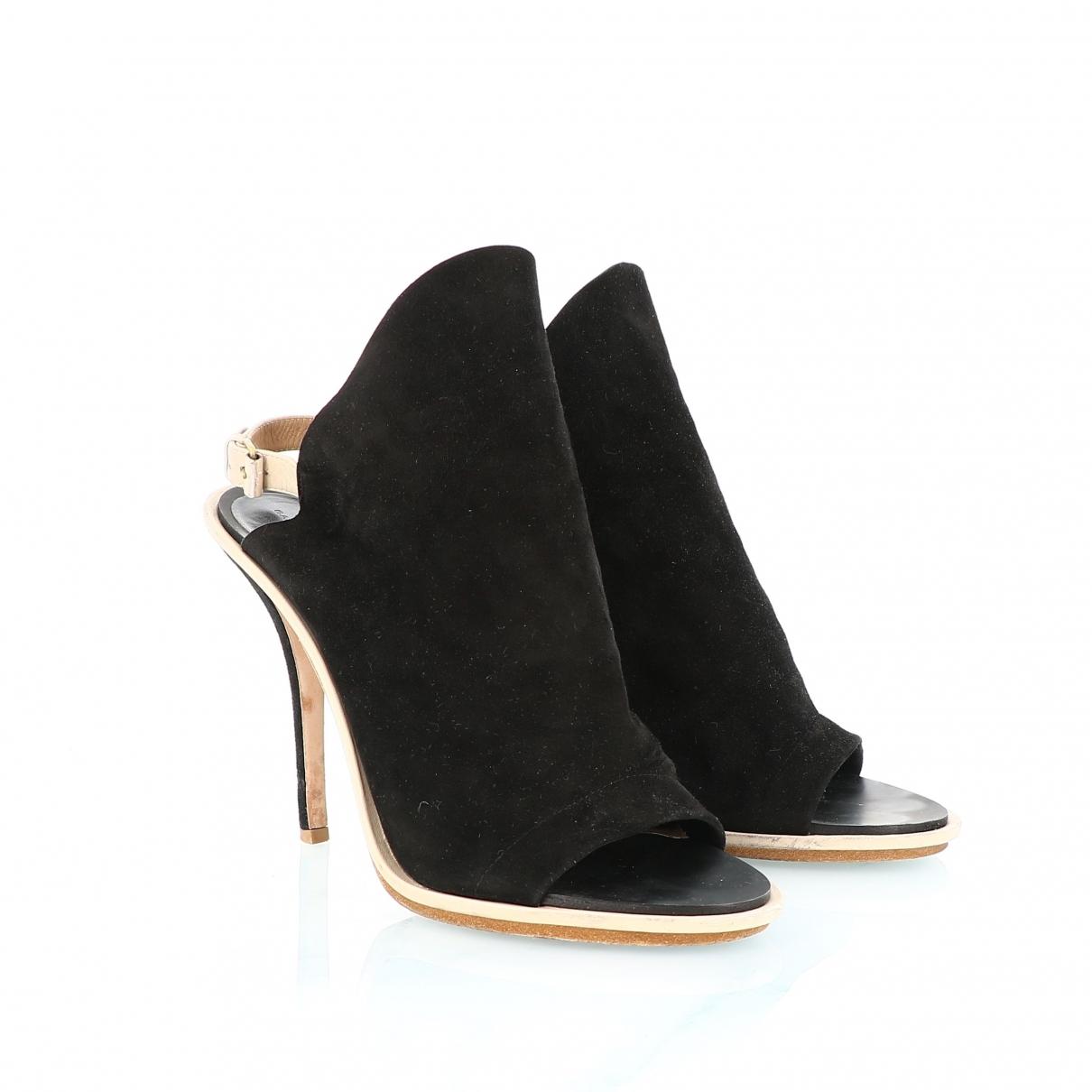 Balenciaga - Sandales   pour femme en suede - noir