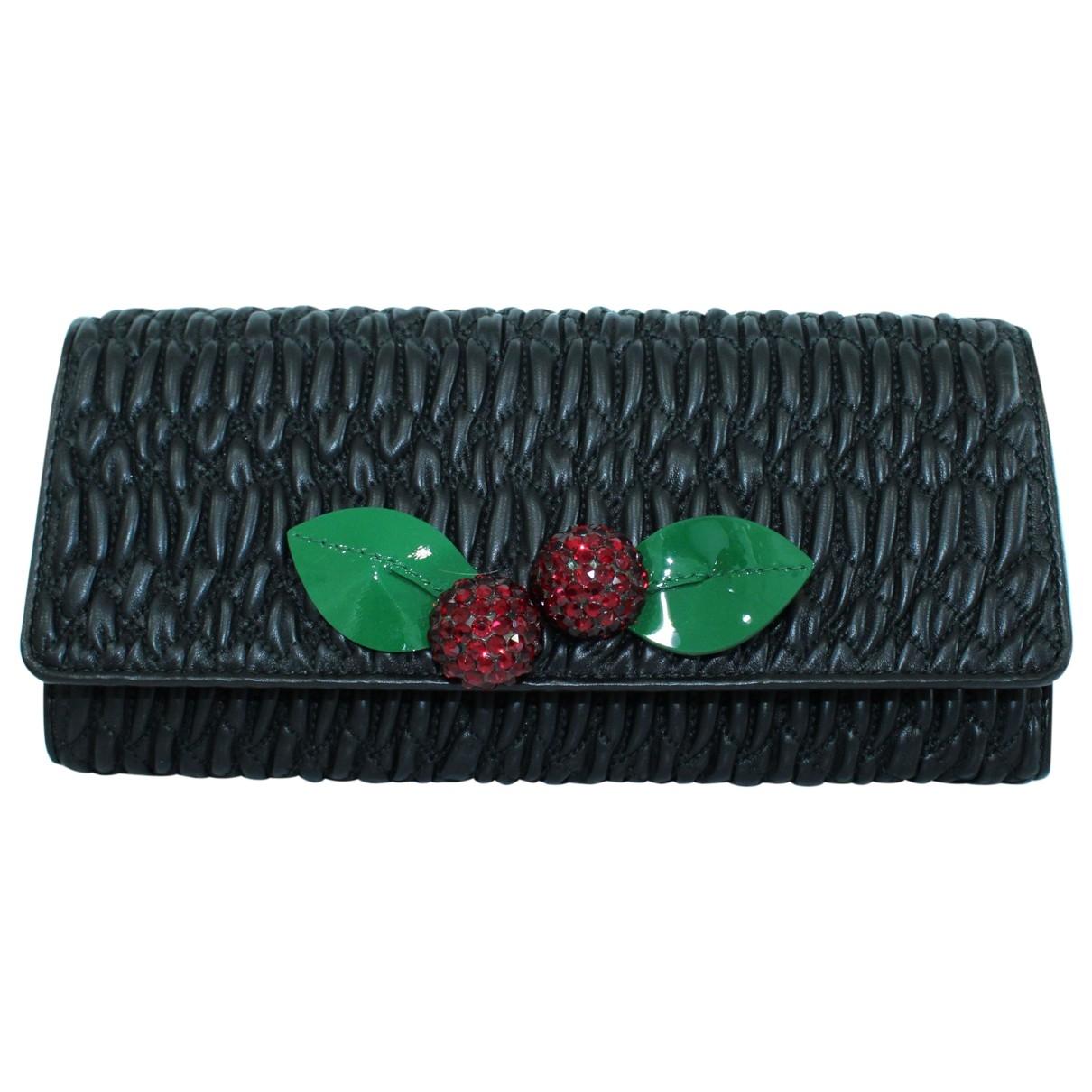 Miu Miu Matelassé Black Leather Clutch bag for Women \N