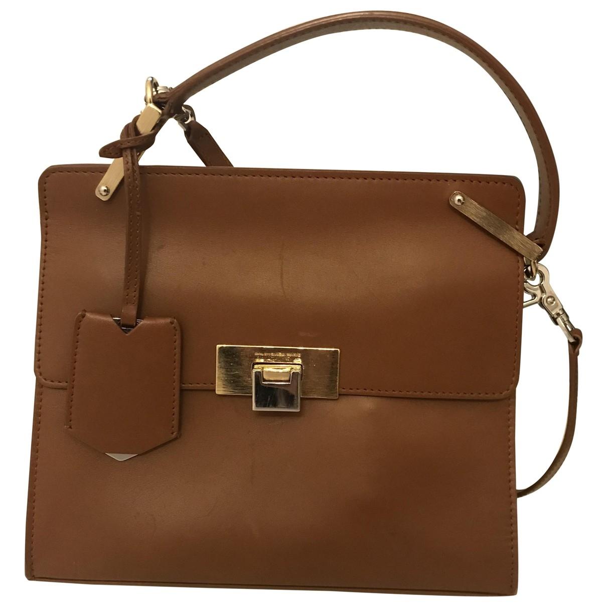 Balenciaga - Sac a main Le Dix pour femme en cuir - marron